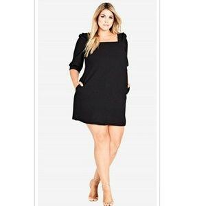 🔥➕ CITY CHIC 💜 Sexy Black Dress